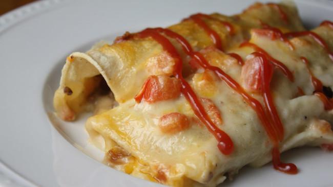 Yankee Cheddar Enchilada Casserole