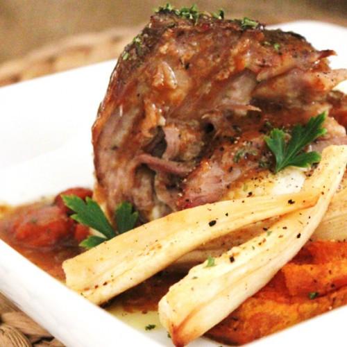 Cider-Braised Pork Shoulder with Caramelized Onions
